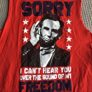 NWOT Abe Lincoln Freedom Saying Graphic Tee L